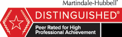 Peer rated for highest level of professional excellence.